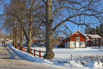 bosättning hus röd gård