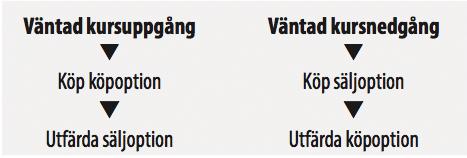 Optioner Kursuppgång Kursnedgång