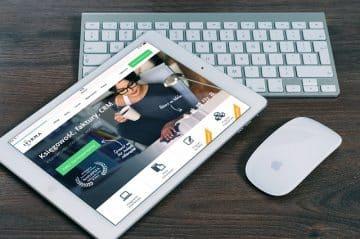 Ipad med app från ett kommanditbolag