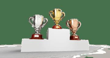 Tävlingsvinst tävlingsvinster med prispokal