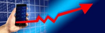 aktieutdelning graf
