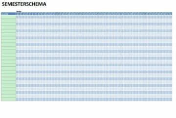 semesterlista eller semesterschema som PDF eller Excel