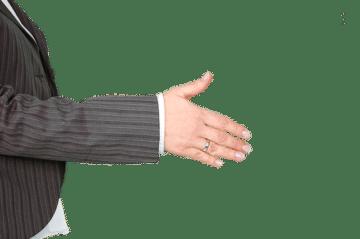 Välkommen handslag välkomstbrev